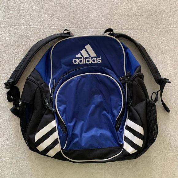 Adidas Soccer Backpack Bag! Nice blue! Large!
